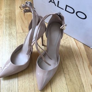 Aldo Double Ankle Strap Nude Pumps 7